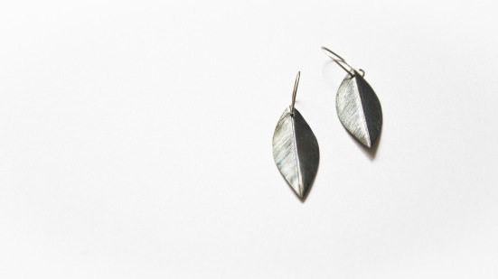 Oxidised Leaf Earrings